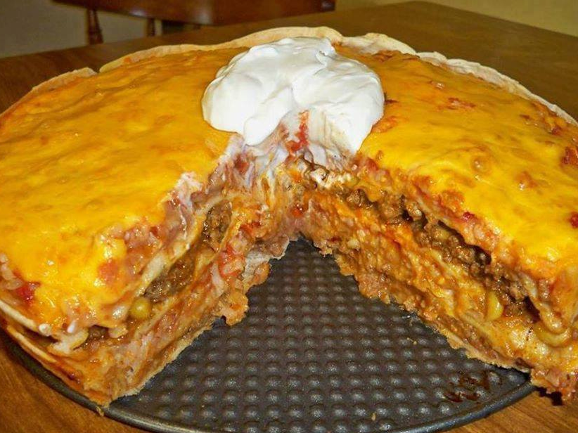 Photo of Mexican Tortilla Casserole – Top cooking