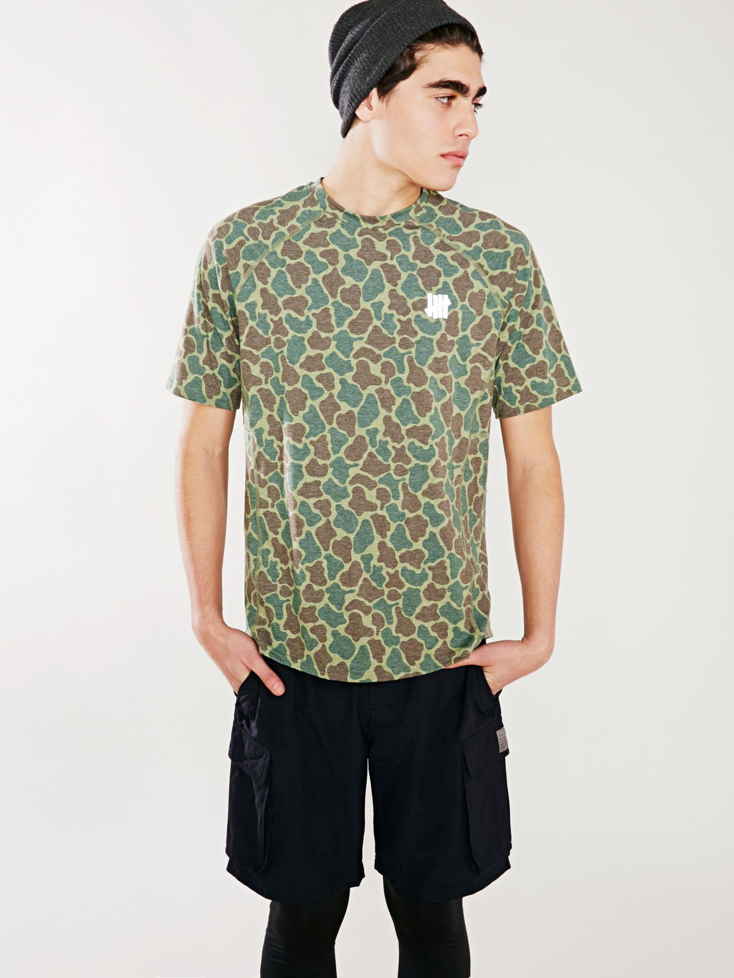 undefeated olive camo technical tee without walls men on walls coveralls camo id=12438