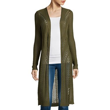 jcpenney.com | Arizona Long-Sleeve Pointelle Duster | Trend We ...