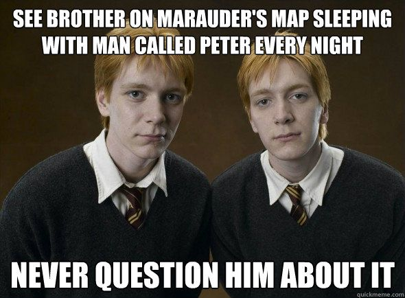 """Ron wouldn't have let the """"rat"""" sleep in bed with him, but this made me laugh!"""