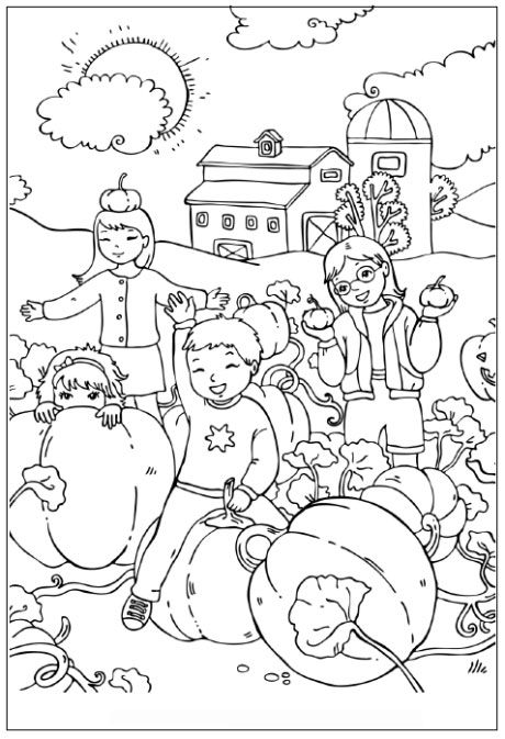 Bojanke Jesen Pumpkin Coloring Pages Fall Coloring Pages