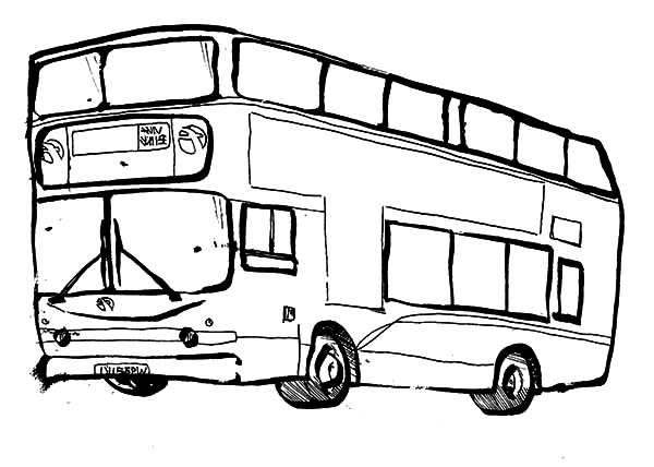 City Bus Sketch Coloring Pages Netart In 2020