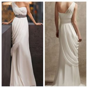 Greek dress next year a tasteful toga party maybe for Toga style wedding dress