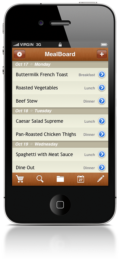 My favorite app. I can save my recipes, plan my weekly