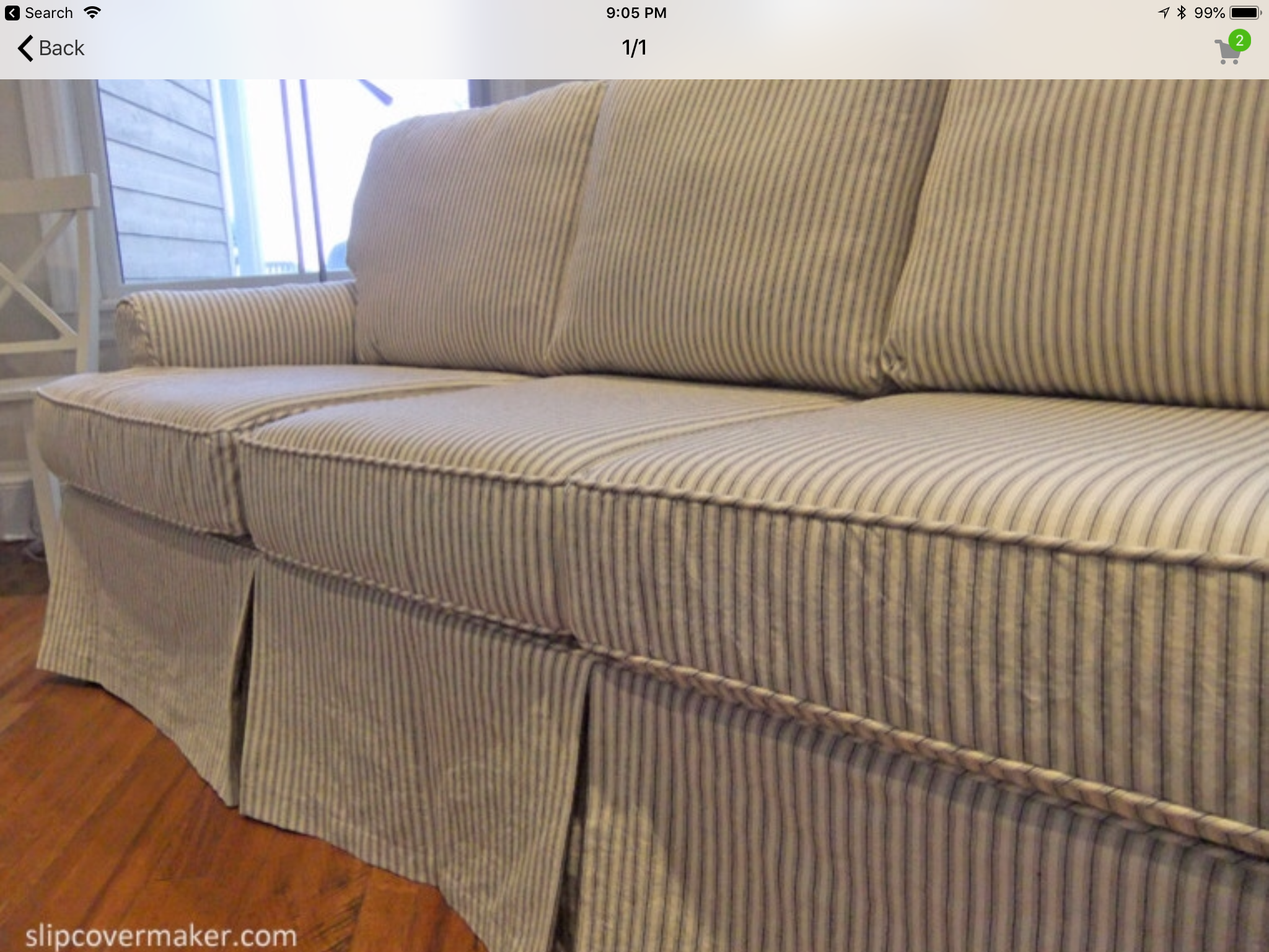Pinstripe Or Ticking Fabric Couch Upholstery Slipcovers Couch