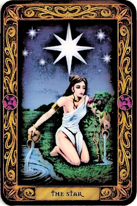 The Star ~ Tarot card associated with Aquarius ~ dreams and