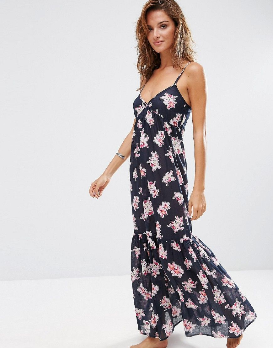 Image 1 of ASOS Orchid Tropical Tiered Maxi Beach Dress | Одежда ...