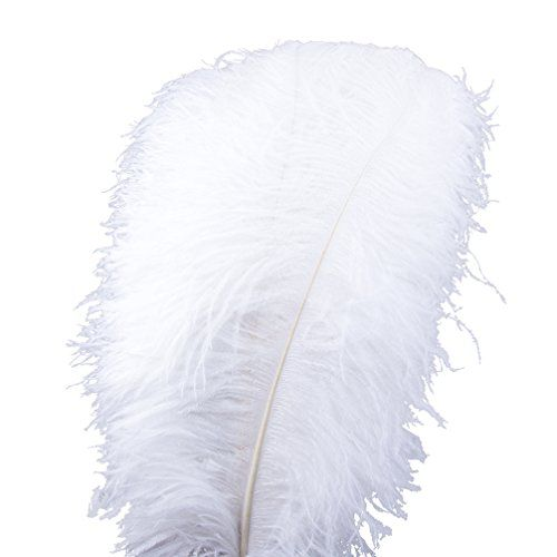 Ostrich Feathers Home Wedding Decoration yellow 20-25cm Sowder 50pcs Natural 8-10inch