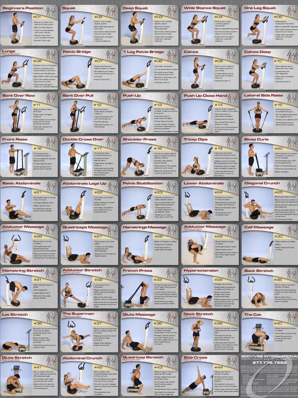 Vibefit whole body vibration exercise chart fitness diet health get also best exercises images rh pinterest
