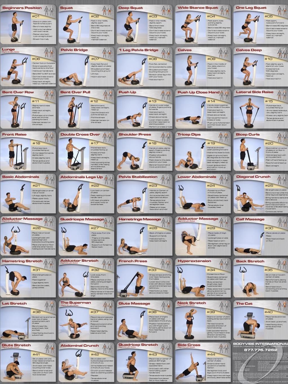 Whole Body Vibration Exercise Chart Zaaz Pinterest Exercise