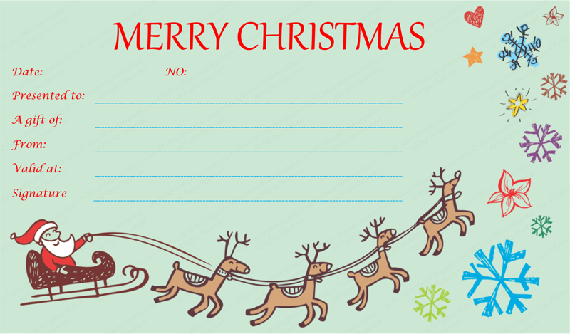 Christmas Gift Certificate Templates   Google Search  Christmas Certificates Templates Free