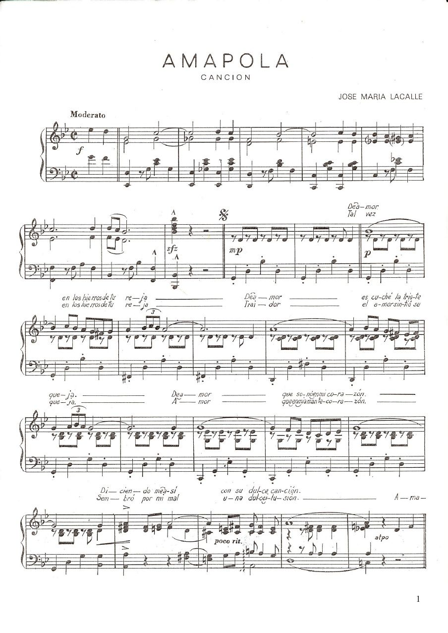 Amapola Score Pdf Violin Music Piano Sheet Music Sheet Music