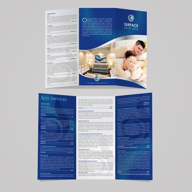 Modern Med Spa Services Menu by Sikalive Brochure Design - spa brochure