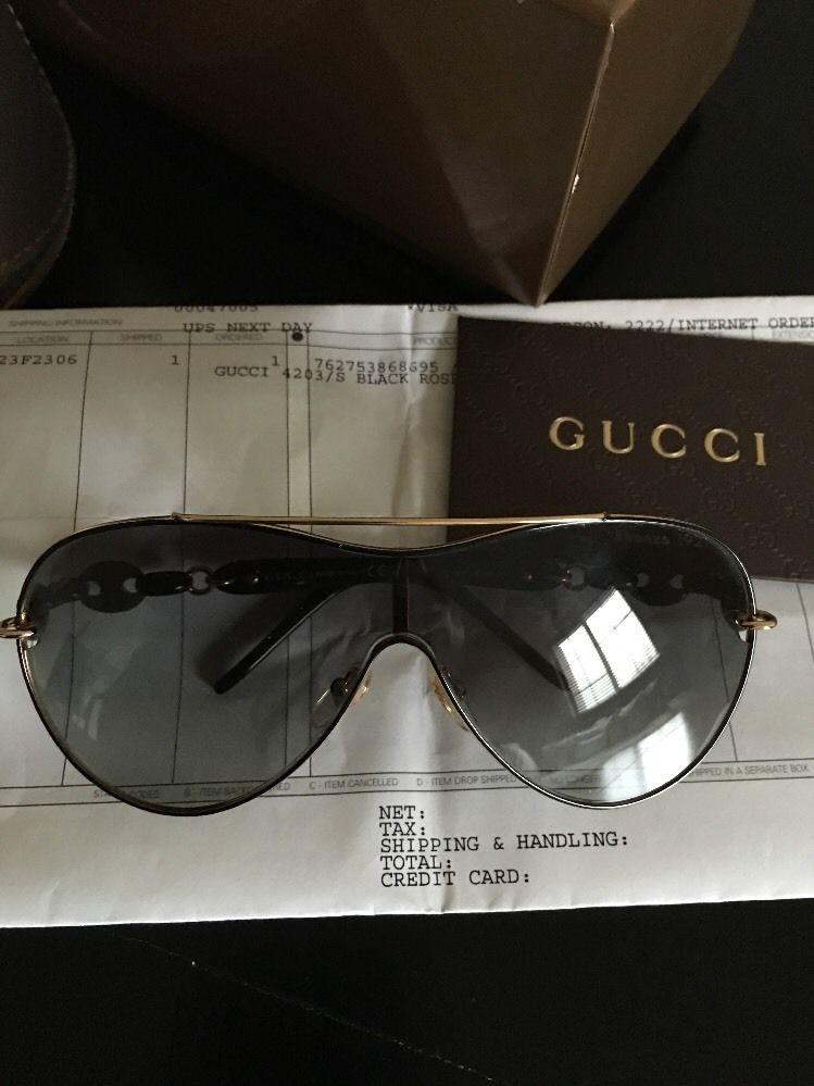 6f8b8247c32e Gucci Sunglasses Eye Wear GG 4203 s Wpucc Black Rose Gold Authentic ...
