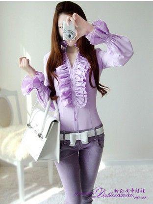 Aliexpress.com: Miễn phí vận chuyển Hot bán/hai lớp ruffle/Đuốc tay áo/nữ dài tay áo sơ mi/Khuyến mãi giá thấp/checp áo cánh S XL Mua từ đáng tin cậy áo sơ mi trò chơi nhà cung cấp về Pink-Doll Store.