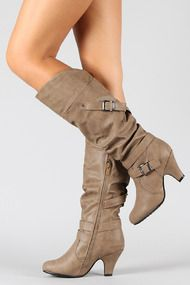 Auto-66 Buckle Slouchy Knee High Boot