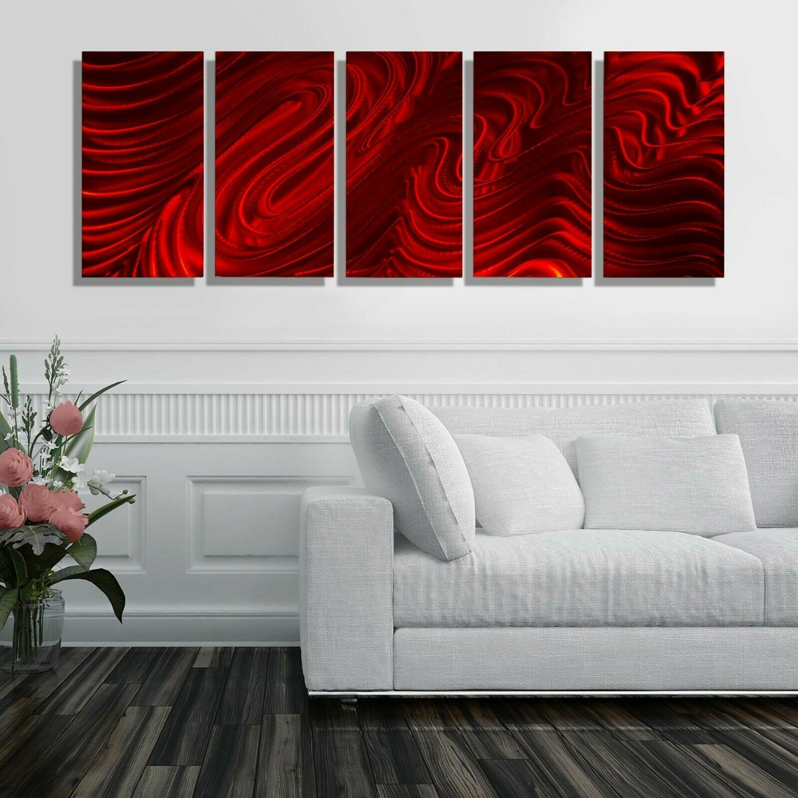 Ultra Modern Metal Wall Art Large Red Painting Decor Signed Original Jon Allen Ebay In 2020 Red Wall Decor Red Wall Art Red Metal Wall Art