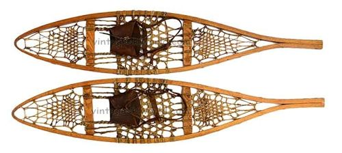 1920 S Maine Style Vintage Snowshoes To Hang On The Wall