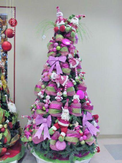 Navidad en azules fucsias y morados rbol de navidad - Arbol de navidad morado ...