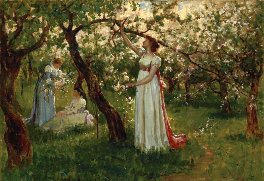 Douglas Volk Artist's Daughter in a Garden
