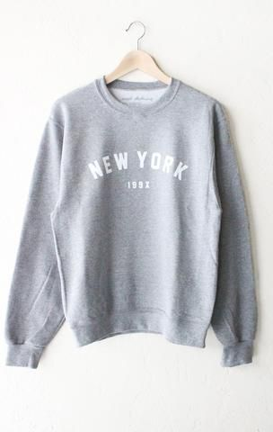 7d5c1955 NYCT Clothing New York 199x Sweater - Grey | Style in 2019 | Fashion ...