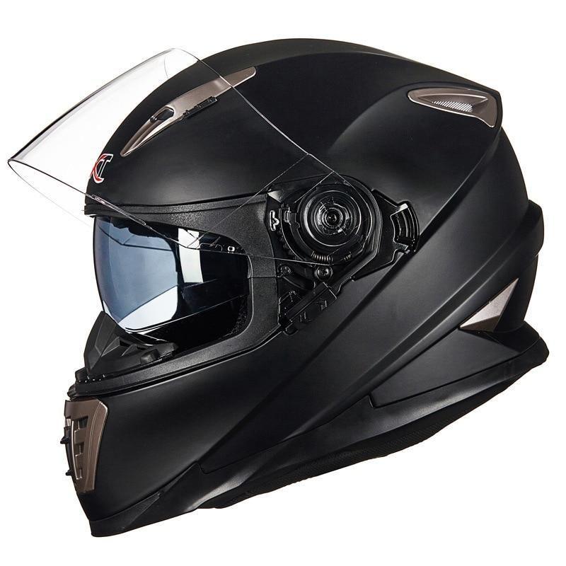 GXT Moto Double Visor Full Face Racing Helmet
