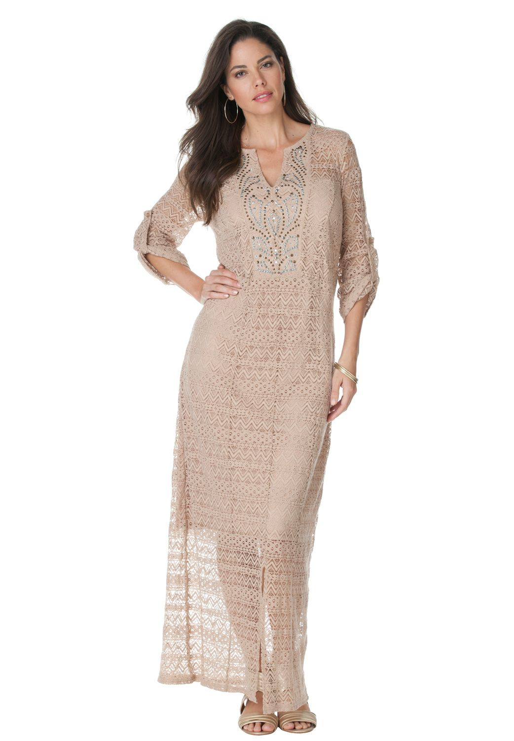 A beautiful plus size maxi dress designed to fit you flawlessly