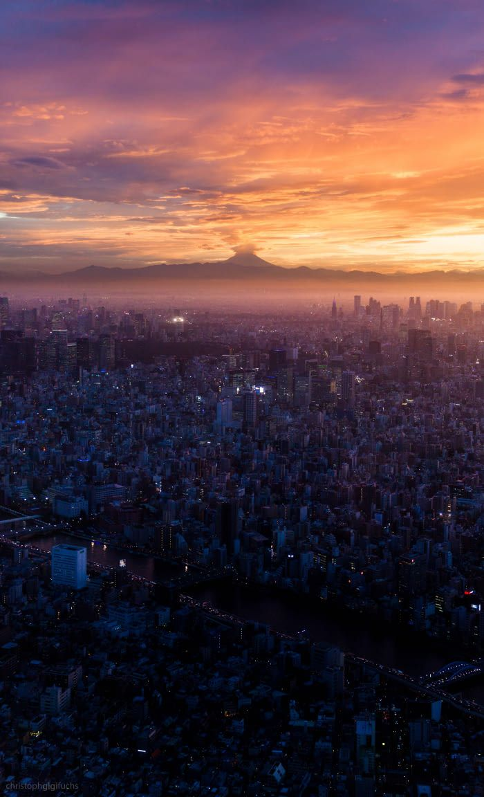 Tokyo Sunset Sunset Tokyo City Tokyo