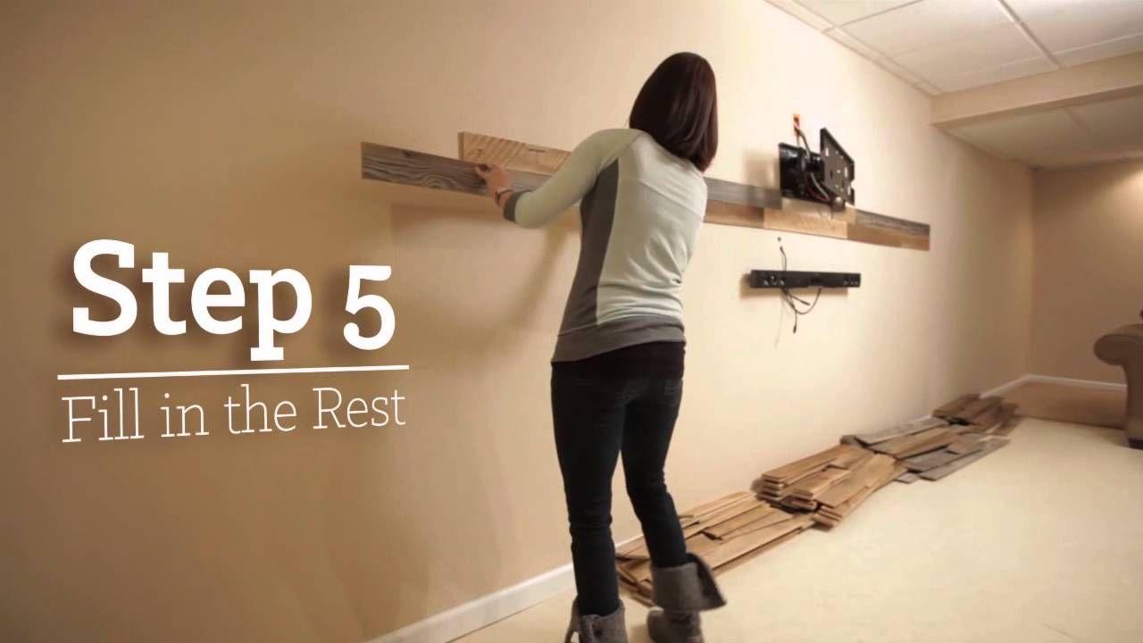 Installing plankwood genuine reclaimed wood planks pallet crazy