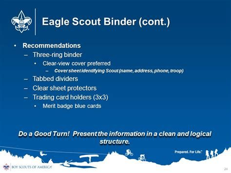 View source image Eagle scout, Clear sheet protectors