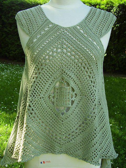 Ravelry: Lacy Swing Top pattern by Mari Lynn Patrick   CROCHET KNIT ...