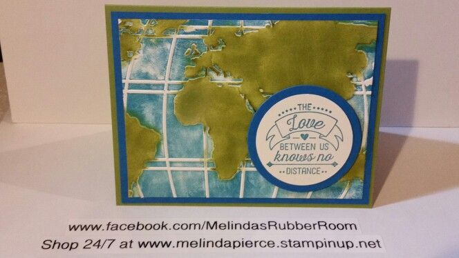 Going Global stamp set from Stampin Up. Check out my facebook page at www.facebook.com/MelindasRubberRoom. Like my page for more inspiration