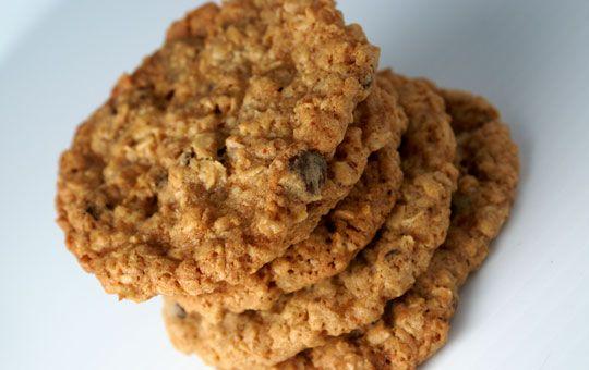 GF Oatmeal Cookies made with Pamela's baking mix