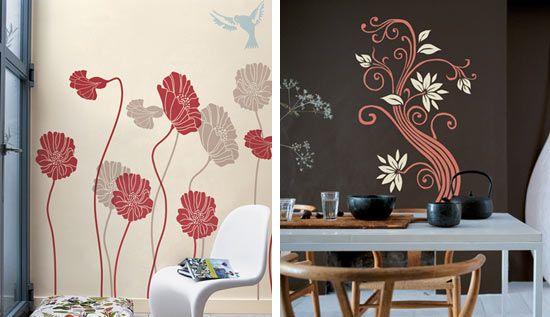 Plantillas de flores para pintar en la pared imagui - Como pintar las paredes ...