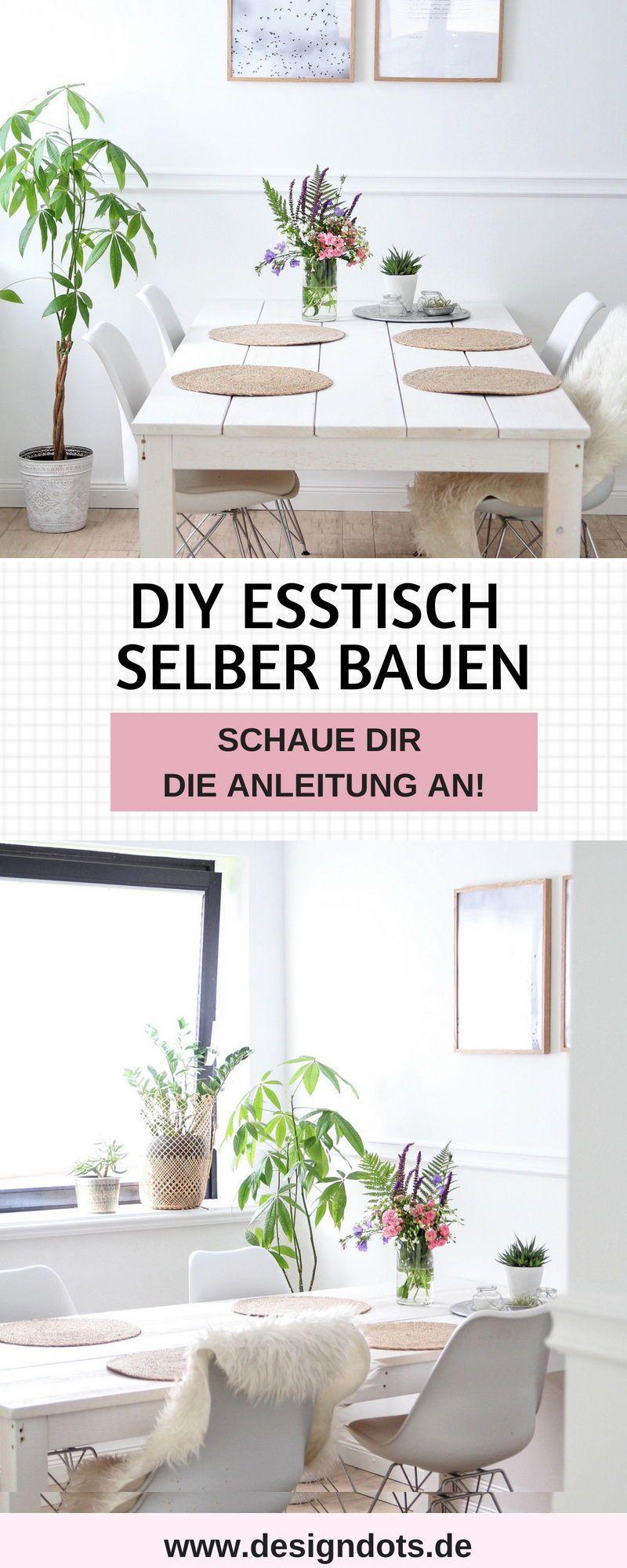 diy esstisch selber bauen anleitung | diy esstisch, diy