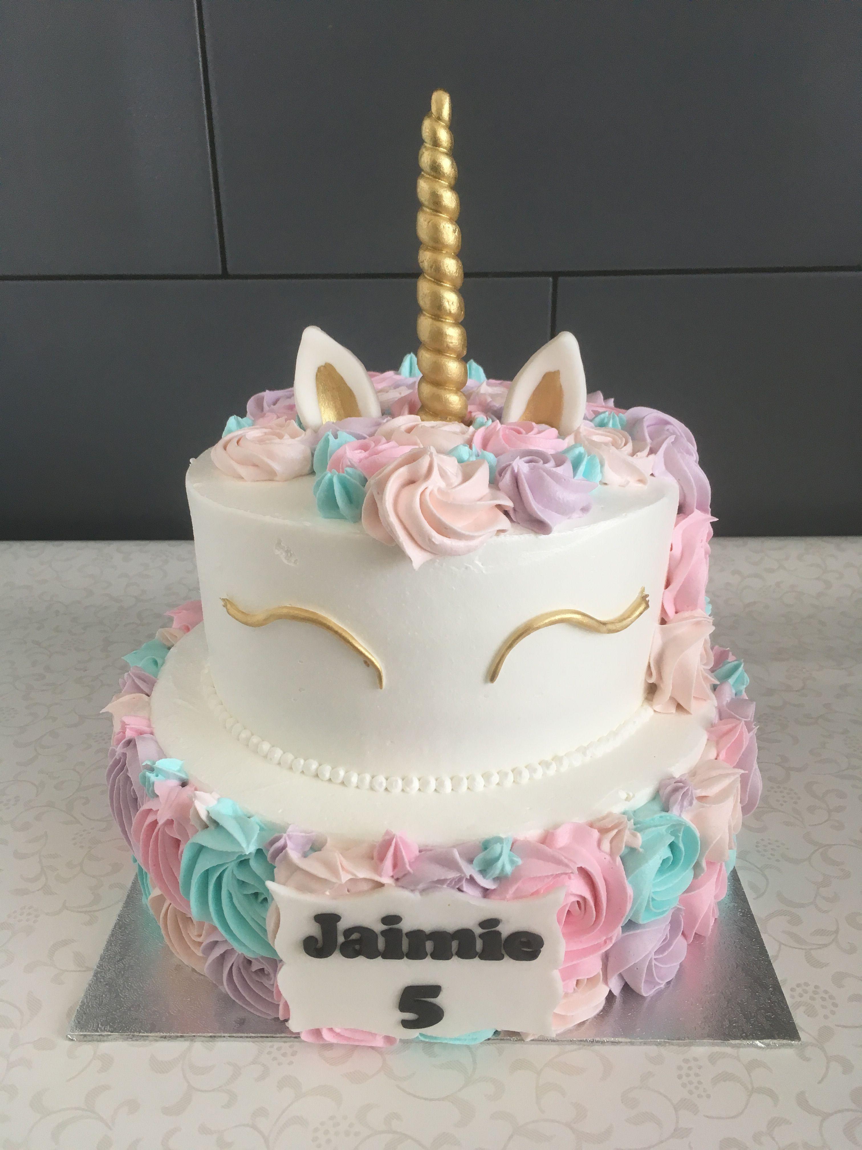 2 Layer Unicorn Cake