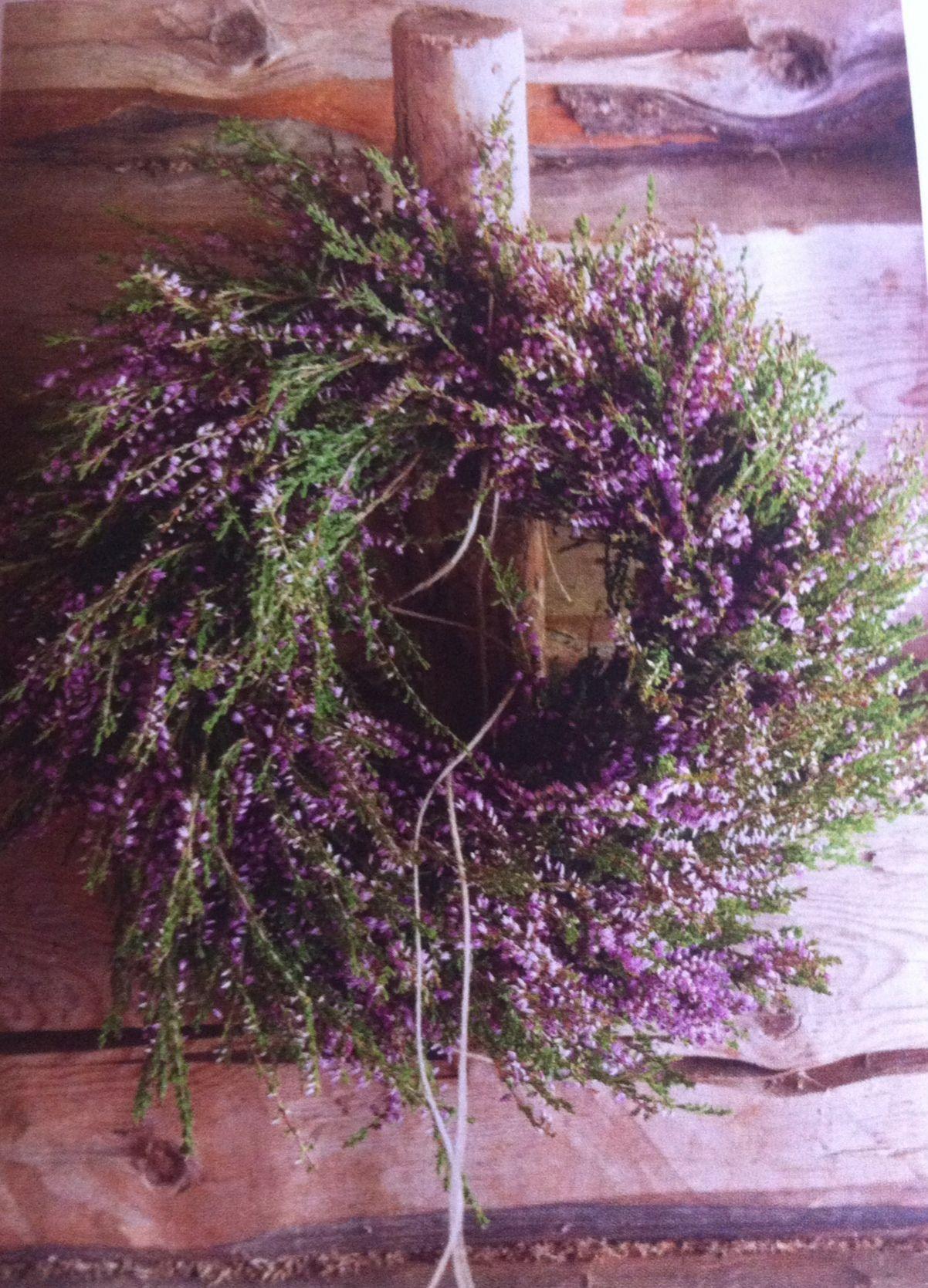 Heather Flower Wreath Lev Landlig Magazine 6 2014 Heather Flower Lavender Cottage Heather Wreath