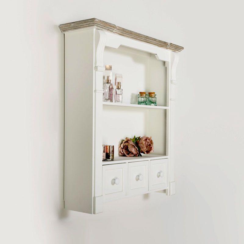White Wall Shelf Unit With Drawers Daventry White Range Homedecor Homeideas Mydecor Vintage Vinta Wall Shelf Unit Wall Shelving Units White Wall Shelves