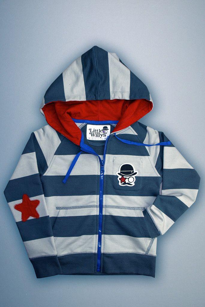 Grey & Grey Striped Hoodie x