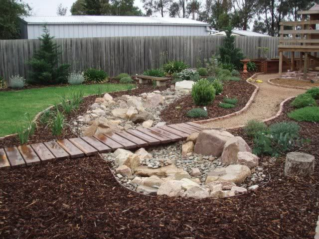 dry creek bed landscaping ideas view topic ch teau tdl the backyard chapter the rains. Black Bedroom Furniture Sets. Home Design Ideas