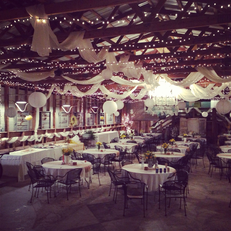 Cute Wedding Ideas For Reception: My Sister's Country Chic Wedding Reception. Classy Barn