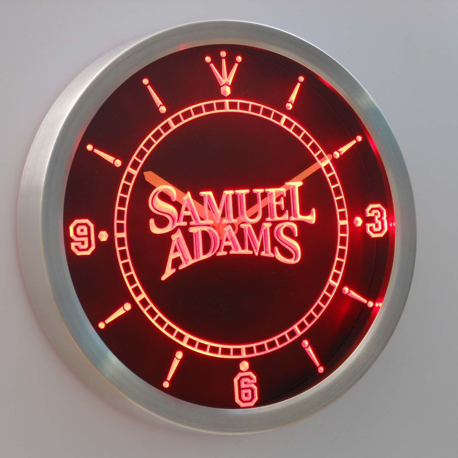 Samuel Adams LED Neon Wall Clock