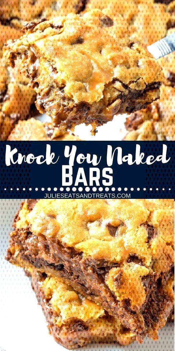 Delicious Caramel Cookie Bars mit einer Schicht Karamell!  - Brownies and Bars -