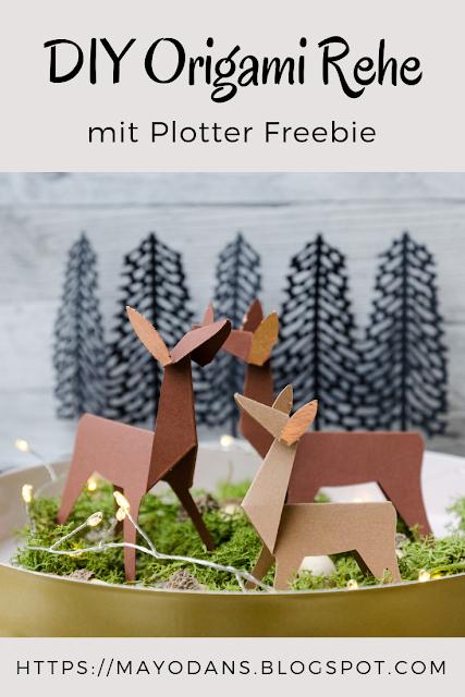 Diy Origami Rehe Und Ein Plotter Freebie Fur Euch Ideas What To