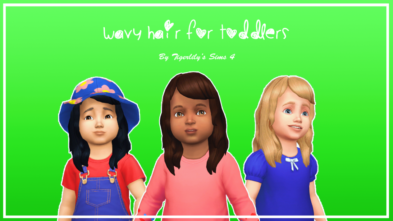 Lana CC Finds - tigerlilys-sims4 Wavy Hair for Toddlers Here