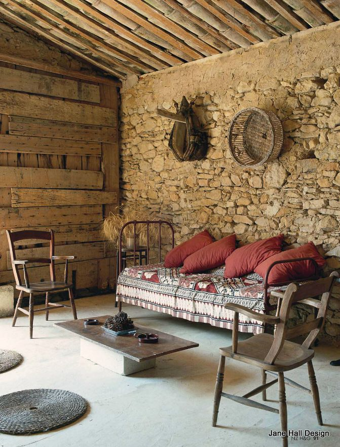 Rustic Style French Country living room featured in World of