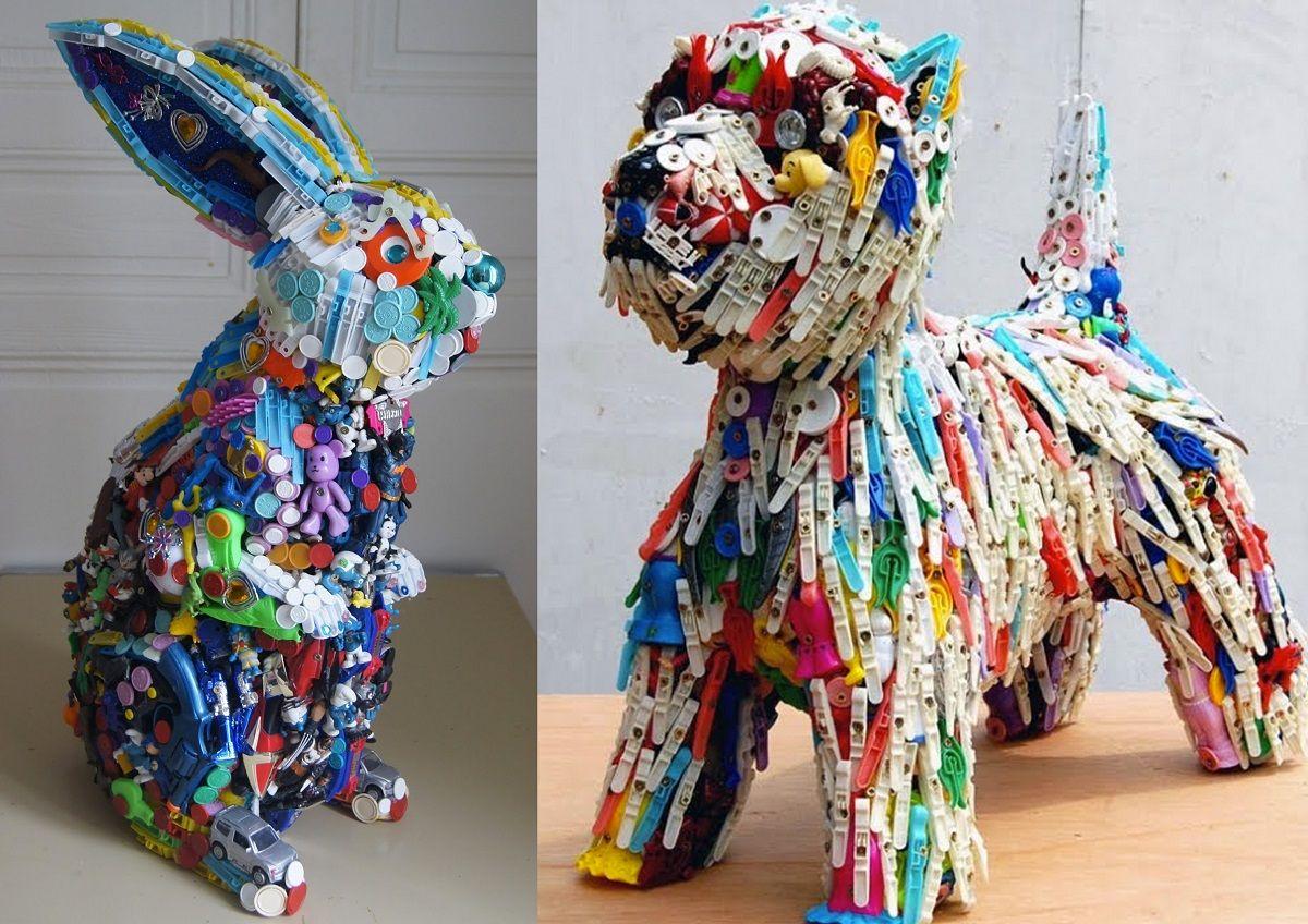 obras de manualidades recicladas de robert bradford - Manualidades Recicladas