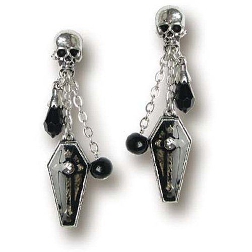 Great set of #Skull and coffin earrrings