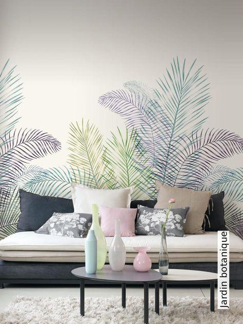 Jardin botanique Ateliers, Grau und Graue Wände - graue tapete wohnzimmer