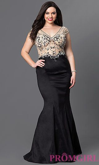Floor Length Mermaid Cap Sleeve Dress in 2018 | Prom ...